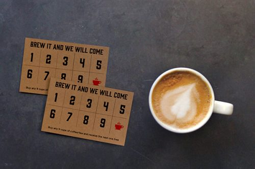 Provide loyalty card - coffee business