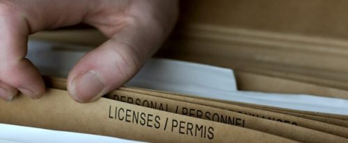 Securing the license and permit
