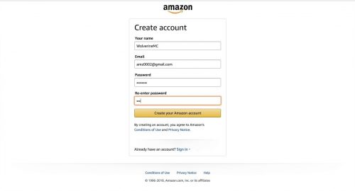 Setting Up Your Amazon Account