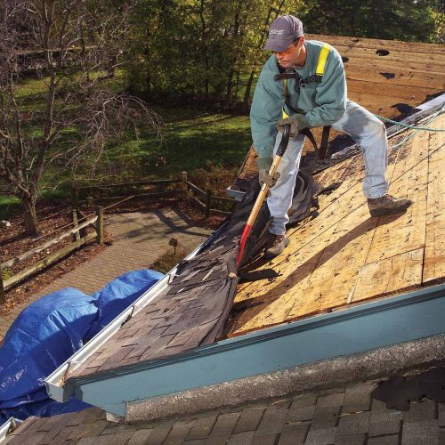 Removing the Old Roof - Metal Roof Installation