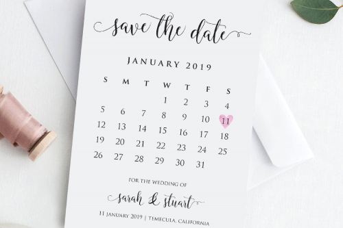 Step 3: Save the Date! - wedding budget plan