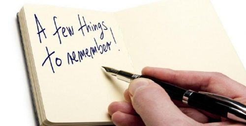 Things to Remember - Business Idea