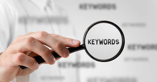 Figure out the keywords that customers use